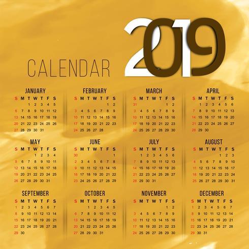 2019年日曆範本 免費下載 | 天天瘋後製