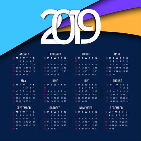 Calendario 2019 Illustrator.Resumen Elegante Fondo Ano Nuevo Calendario 2019 Descargar