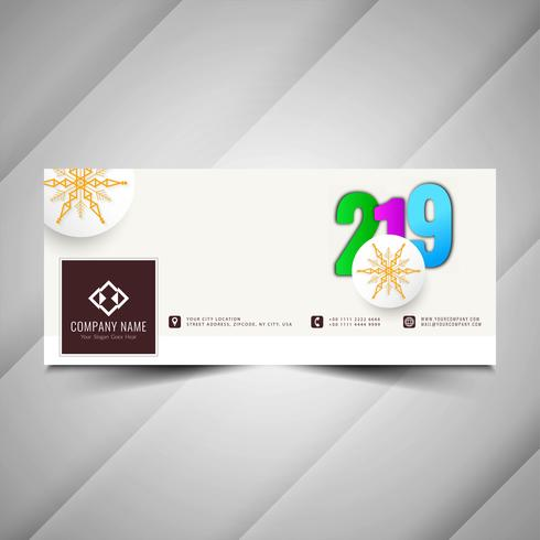 Nyår 2019 stilig social media banner mall