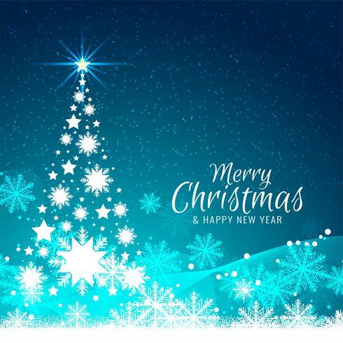 Abstracte Merry Christmas-achtergrond met boomontwerp