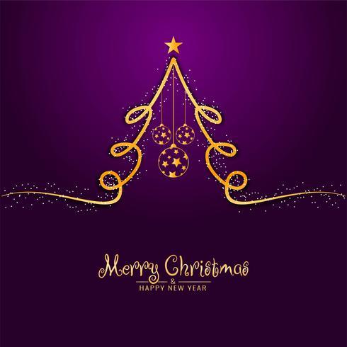 Abstrakter Hintergrund der frohen Weihnachten mit Baumdesign