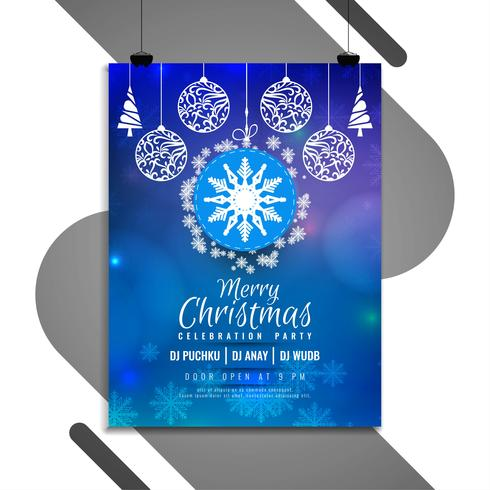 Modèle de flyer joyeux Noël festival célébration