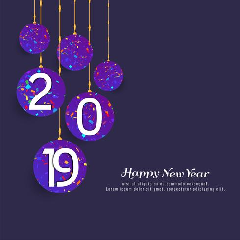 Fondo abstracto feliz año nuevo 2019 celebración vector