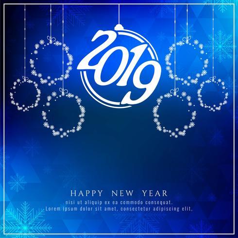 Fondo abstracto feliz año nuevo 2019 celebración