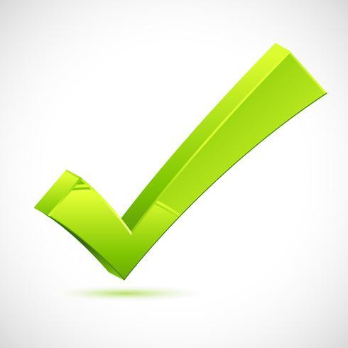 Marca de verificación verde vector