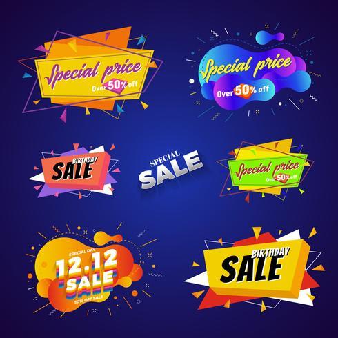Special price sale banner abstract design. Vector illustration