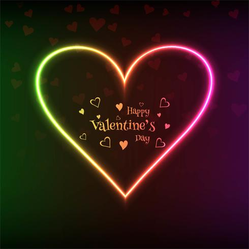 Valentines day colorful hearts card background illustration