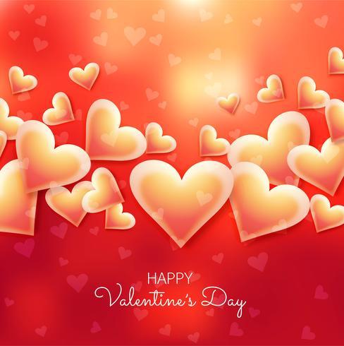 Beautiful valentine's day card background illustration