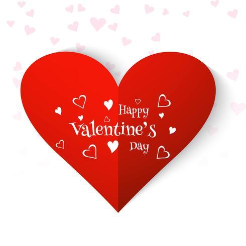 Diseño feliz elegante del corazón de la tarjeta del amor del día de tarjeta del día de San Valentín