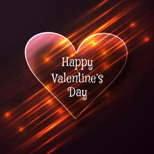 Herzkartenhintergrundillustration des Valentinsgrußtages bunte