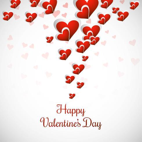Elegante feliz dia dos namorados amor cartão coração design
