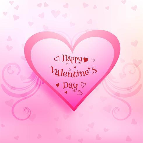 Vackert kort valentins dag bakgrund med hjärtans design