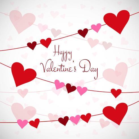 Van de de dagliefde van de gelukkige valentijnskaart het ontwerpillustratie