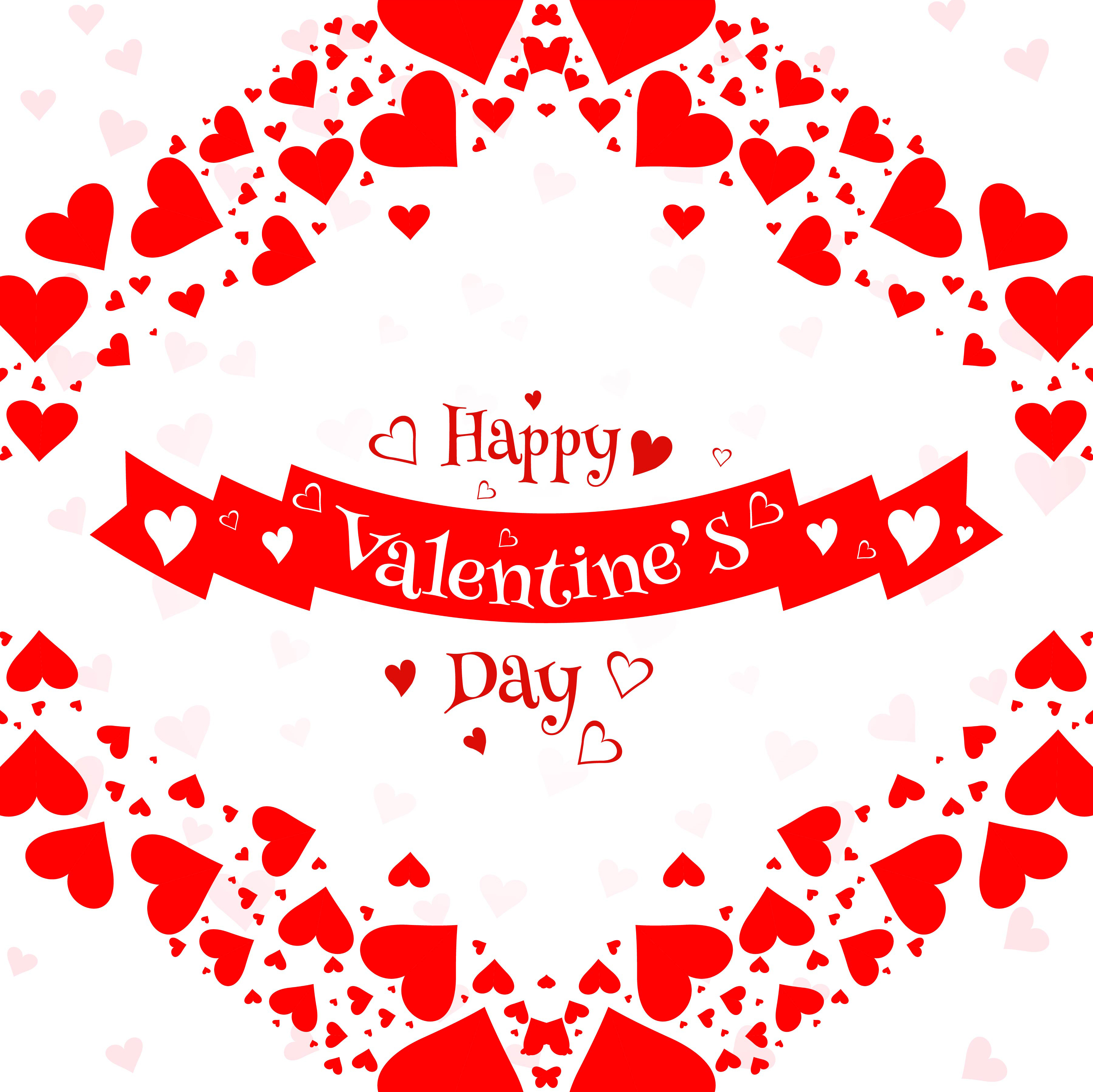 valentines day colorful hearts card background