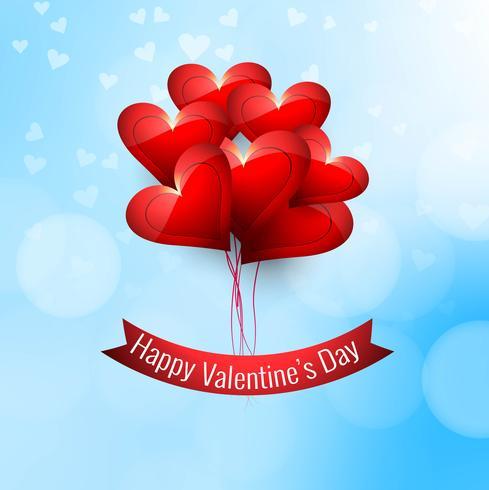Lycklig valentins dag kärlekskortdesign illustration