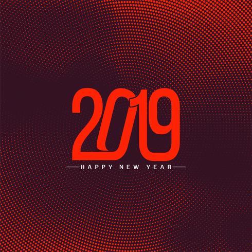 Fondo de celebración de año nuevo moderno 2019