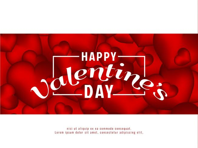 Abstract Happy Valentine's Day background vector
