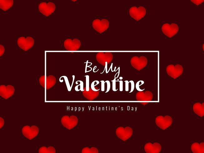 Abstract beautiful Happy Valentine's Day background vector
