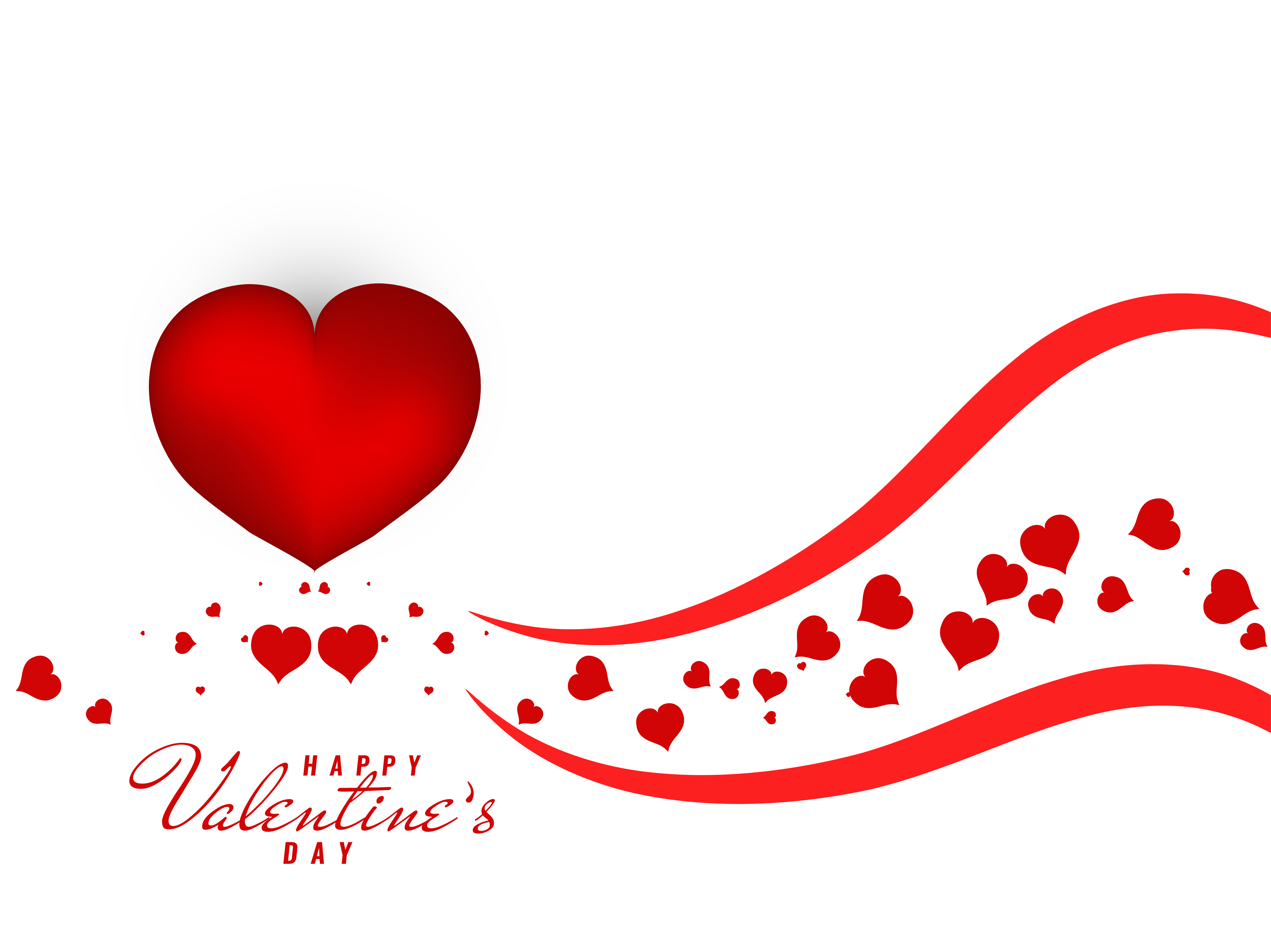 Abstract lovely Happy Valentine's Day background ...