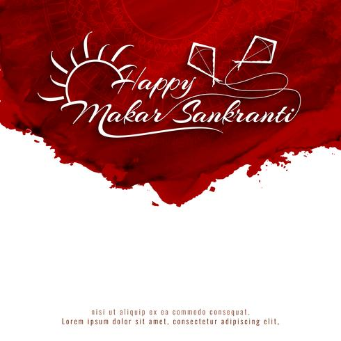 Abstract Happy Makar Sankranti decorative background