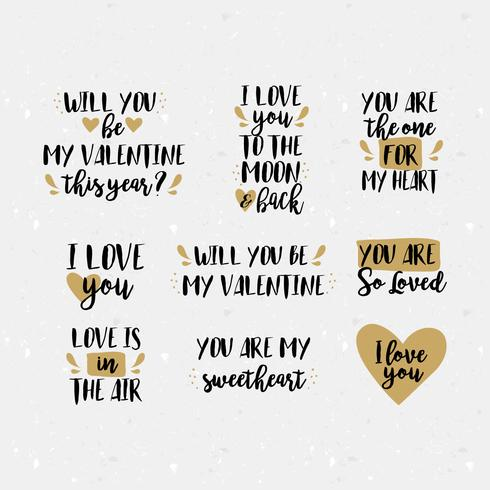 Vector Valentine's Day Messages