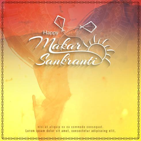 Abstrait heureux Makar Sankranti vecteur