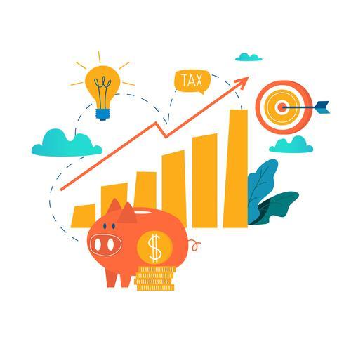 Inkomensstijging vector
