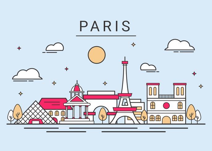 Paris City Skyline Vector