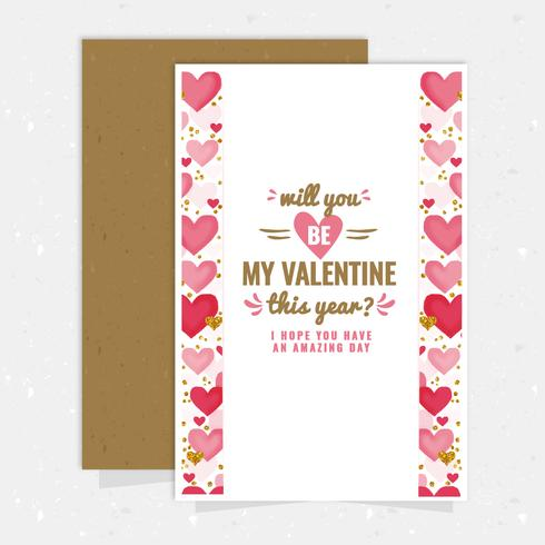 Vector Valentine\'s Day Card