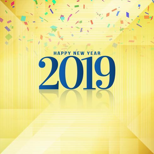 Abstract Gelukkig nieuw jaar 2019 achtergrondontwerp