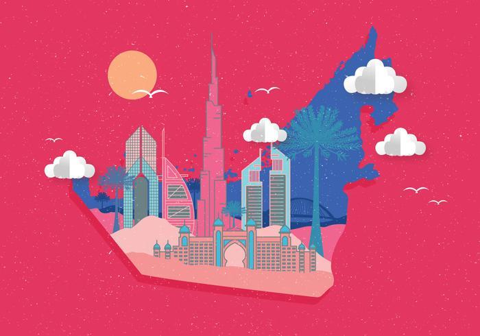Dubai-Karten-Vektor