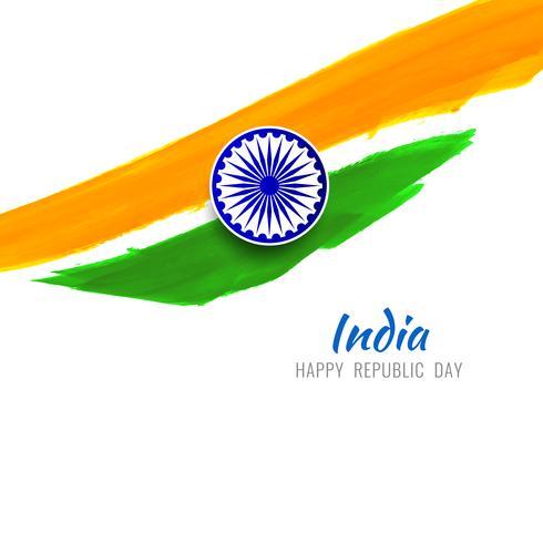 Fondo astratto moderno di progettazione di tema della bandiera indiana vettore