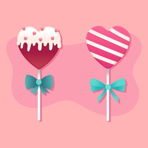 vettore di cuori caramella di San Valentino