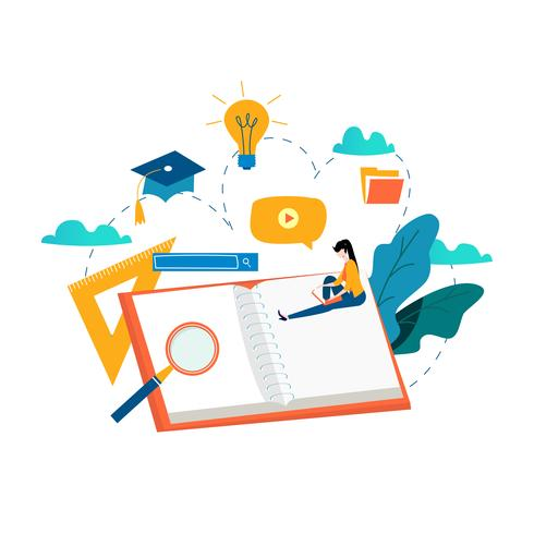 Education, online training courses vector