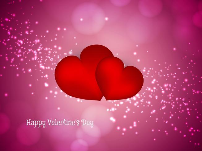 Abstracte Happy Valentine's Day lichte achtergrond vector