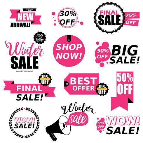 Verkauf Aufkleber Sammlung vektor