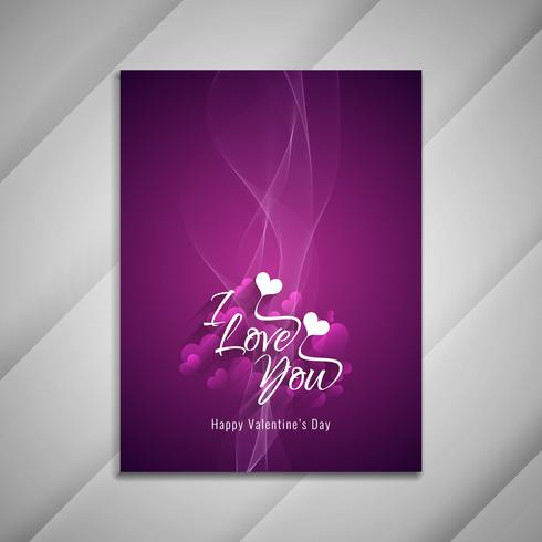 Abstract Happy Valentine's Day stylish greeting card design pres