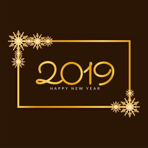 Feliz año nuevo 2019 elegante fondo decorativo