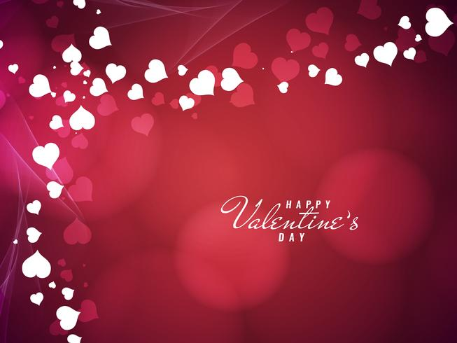 Abstract lovely Happy Valentine's Day background vector