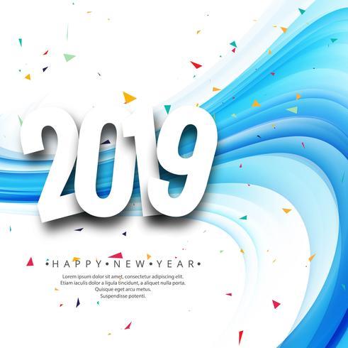 Vacker Gott Nytt År 2019 Text bakgrund