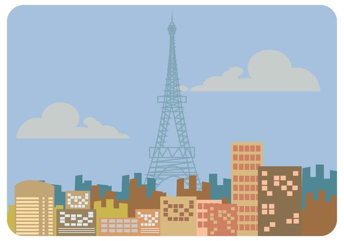 Vector de paisaje de paris