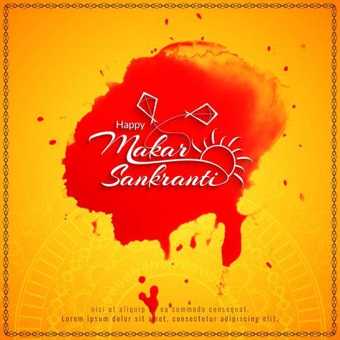 Abstracte gelukkige Makar Sankranti religieuze achtergrond