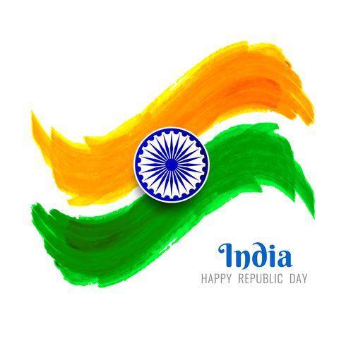 Abstrait drapeau indien thème design ondulé
