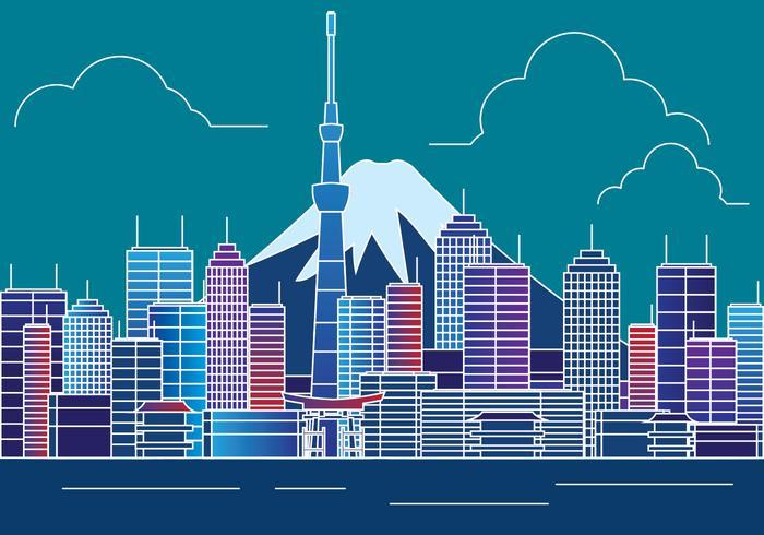 Illustration de Tokyo Skyline