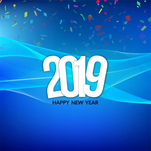 Modern new year 2019 celebration background