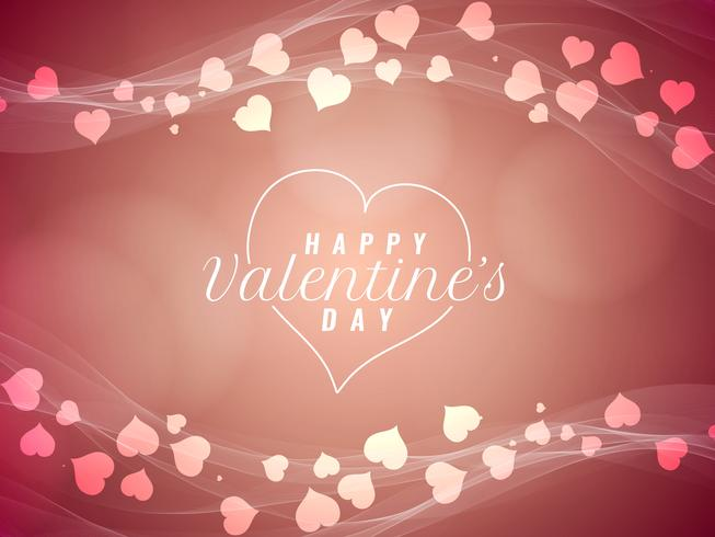 Abstract Happy Valentine's Day beautiful background vector