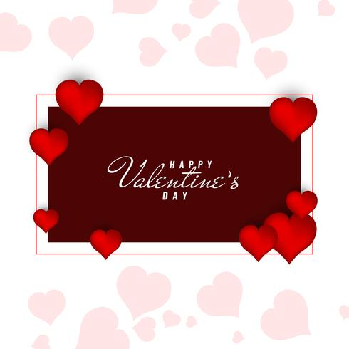 Abstract Happy Valentine's Day decorative background vector