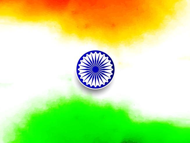 Fondo indio abstracto del diseño del tema de la bandera
