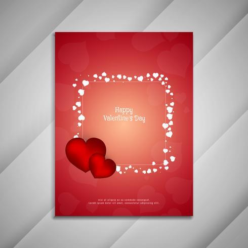 Abstrakt Lycklig Alla hjärtans dag broschyr elegant design presentat vektor