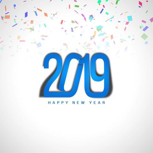 Felice anno nuovo sfondo elegante elegante 2019 vettore